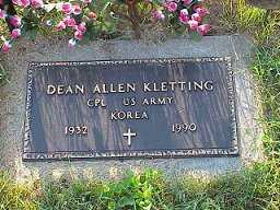 KLETTING, DEAN - Jasper County, Iowa   DEAN KLETTING