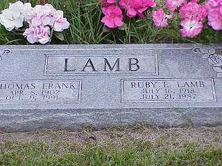 LAMB, THOMAS FRANK - Jasper County, Iowa | THOMAS FRANK LAMB