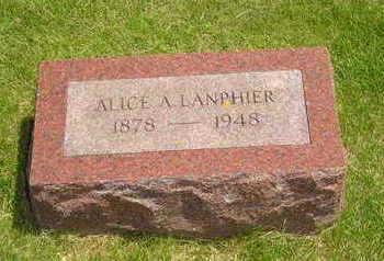 RUMPLE LANPHEIR, ALICE A - Jasper County, Iowa   ALICE A RUMPLE LANPHEIR