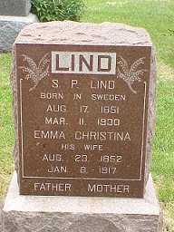 ANDERSON LIND, EMMA CHRISTINA - Jasper County, Iowa | EMMA CHRISTINA ANDERSON LIND