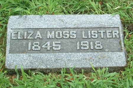 HANSON LISTER, ELIZA - Jasper County, Iowa | ELIZA HANSON LISTER