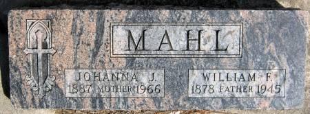 MAHL, JOHANNA JULIANNA - Jasper County, Iowa | JOHANNA JULIANNA MAHL