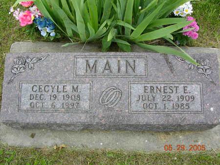 MAIN, CECYLE MAE - Jasper County, Iowa | CECYLE MAE MAIN