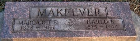 MAKEEVER, MARGARET ELIZABETH - Jasper County, Iowa   MARGARET ELIZABETH MAKEEVER