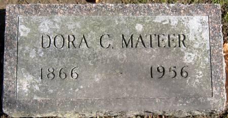 MATEER, DORA C. - Jasper County, Iowa   DORA C. MATEER