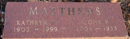 MATTHEWS, JOHN P. - Jasper County, Iowa | JOHN P. MATTHEWS
