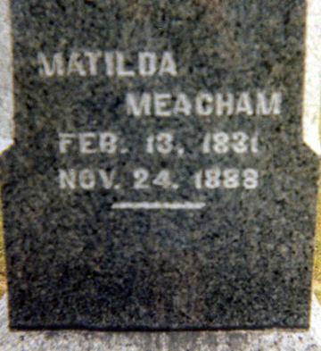 MEACHAM, MATILDA - Jasper County, Iowa | MATILDA MEACHAM