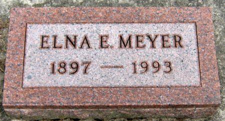 ELLSWORTH MEYER, ELNA E. - Jasper County, Iowa   ELNA E. ELLSWORTH MEYER
