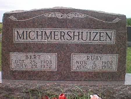 MICHMERSHUIZEN, RUBY IRENE - Jasper County, Iowa | RUBY IRENE MICHMERSHUIZEN