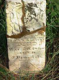 MILLER, CHILD - Jasper County, Iowa   CHILD MILLER