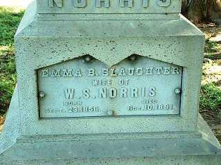SLAUGHTER NORRIS, EMMA B. - Jasper County, Iowa | EMMA B. SLAUGHTER NORRIS