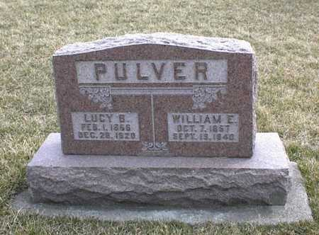 PULVER, WILLIAM EDWARD - Jasper County, Iowa | WILLIAM EDWARD PULVER
