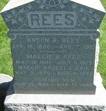REES, ANSON B. - Jasper County, Iowa   ANSON B. REES