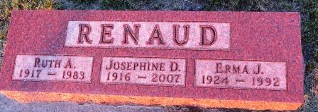 RENAUD, JOSEPHINE D - Jasper County, Iowa | JOSEPHINE D RENAUD