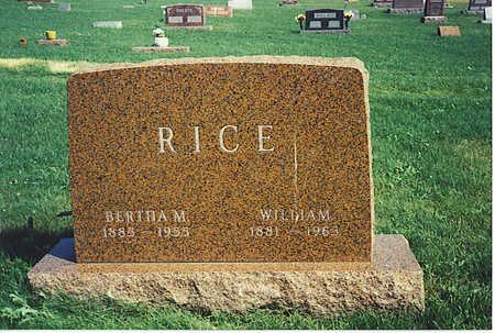 FLEMING RICE, BERTHA - Jasper County, Iowa   BERTHA FLEMING RICE