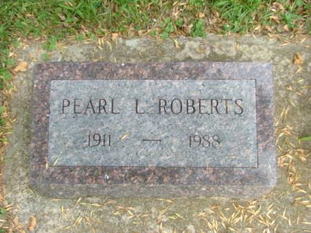 ROBERTS, PEARL L - Jasper County, Iowa | PEARL L ROBERTS