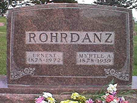 ROHRDANZ, ERNEST - Jasper County, Iowa | ERNEST ROHRDANZ