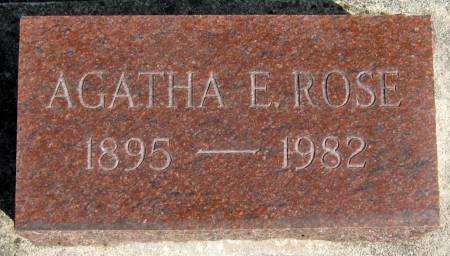 ROSE, AGATHA ESTELLA - Jasper County, Iowa | AGATHA ESTELLA ROSE