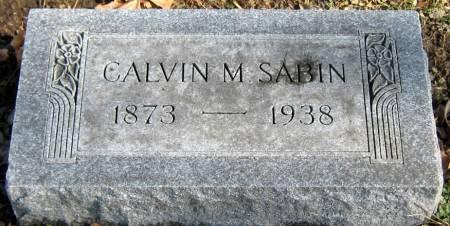 SABIN, CALVIN MONTRAVILLE - Jasper County, Iowa   CALVIN MONTRAVILLE SABIN