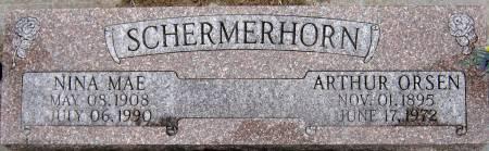 SCHERMERHORN, ARTHUR ORSEN - Jasper County, Iowa   ARTHUR ORSEN SCHERMERHORN