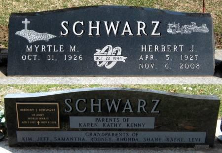 SCHWARZ, MYRTLE M. - Jasper County, Iowa | MYRTLE M. SCHWARZ