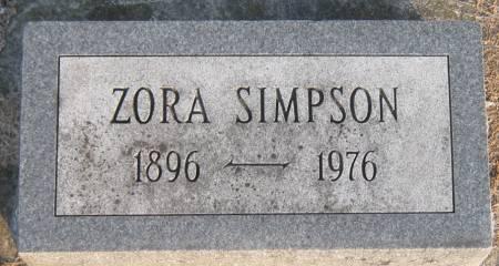 BROWN SIMPSON, ZORA - Jasper County, Iowa | ZORA BROWN SIMPSON