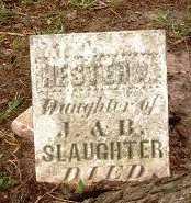 SLAUGHTER, HESTER - Jasper County, Iowa | HESTER SLAUGHTER