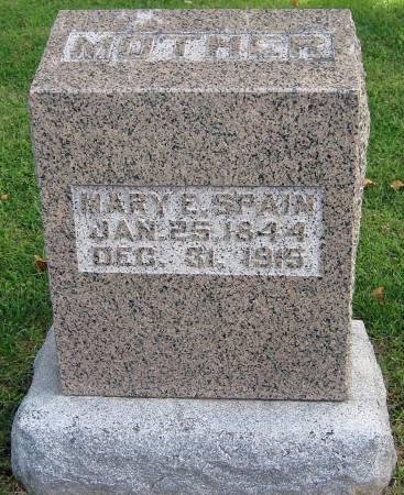 SPAIN, MARY E. - Jasper County, Iowa   MARY E. SPAIN