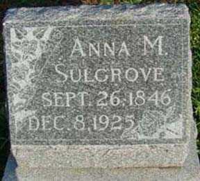 SULGROVE, ANNA M - Jasper County, Iowa | ANNA M SULGROVE