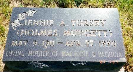 TORSKY, JENNIE A. - Jasper County, Iowa   JENNIE A. TORSKY
