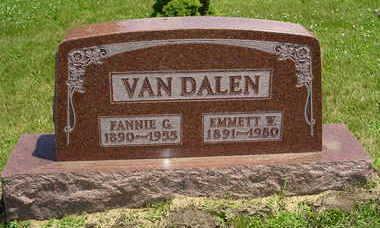 CLAUSEN VAN DALEN, FANNIE G. - Jasper County, Iowa | FANNIE G. CLAUSEN VAN DALEN