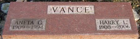 VANCE, ANETA G. - Jasper County, Iowa   ANETA G. VANCE