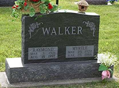 WALKER, MYRTLE MAE - Jasper County, Iowa   MYRTLE MAE WALKER