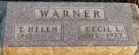 WARNER, T. HELEN - Jasper County, Iowa   T. HELEN WARNER