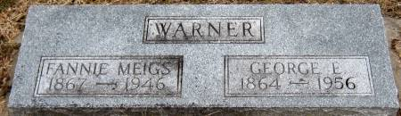 WARNER, GEORGE E. - Jasper County, Iowa   GEORGE E. WARNER