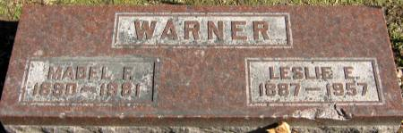 WARNER, LESLIE EARL - Jasper County, Iowa   LESLIE EARL WARNER