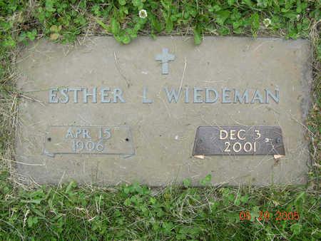 WEIDEMAN, ESTHER - Jasper County, Iowa | ESTHER WEIDEMAN