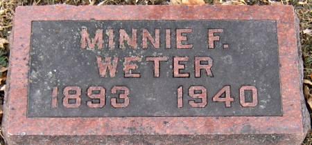 WETER, MINNIE FRANCES - Jasper County, Iowa | MINNIE FRANCES WETER