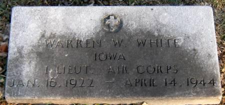 WHITE, WARREN W. - Jasper County, Iowa | WARREN W. WHITE