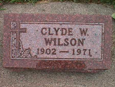 WILSON, CLYDE WILLIAM - Jasper County, Iowa | CLYDE WILLIAM WILSON