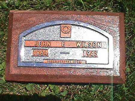 WILSON, JOHN EDWARD - Jasper County, Iowa | JOHN EDWARD WILSON