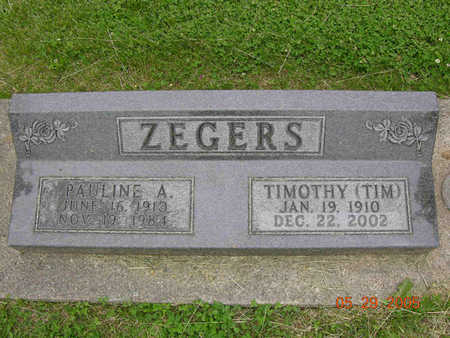 MOLENAAR ZEGERS, PAULINE - Jasper County, Iowa | PAULINE MOLENAAR ZEGERS