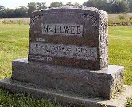 MCELWEE, ANNA M - Jefferson County, Iowa | ANNA M MCELWEE