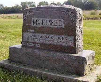 MCELWEE, JOHN G - Jefferson County, Iowa | JOHN G MCELWEE