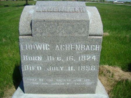 ACHENBACH, LUDWIG - Jefferson County, Iowa | LUDWIG ACHENBACH