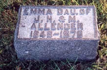 ALLENDER, EMMA - Jefferson County, Iowa | EMMA ALLENDER