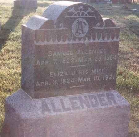 ALLENDER, ELIZA J - Jefferson County, Iowa | ELIZA J ALLENDER