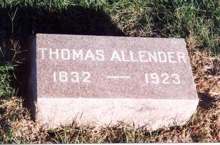 ALLENDER, THOMAS (D. 1923) - Jefferson County, Iowa | THOMAS (D. 1923) ALLENDER