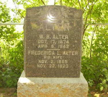 SCHAFER ALTER, FREDERICA - Jefferson County, Iowa | FREDERICA SCHAFER ALTER