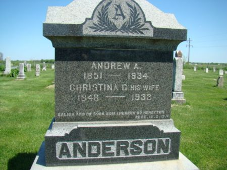 ANDERSON, ANDREW A - Jefferson County, Iowa | ANDREW A ANDERSON